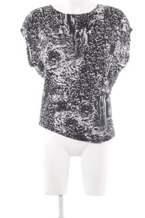 Diesel Print-Shirt schwarz-weiß abstraktes Muster Casual-Look