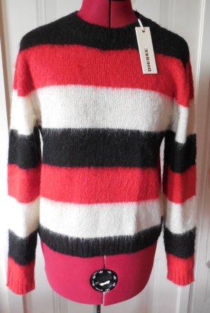 Diesel Pulli Pullover Gr.S/36 schwarz weiß rot