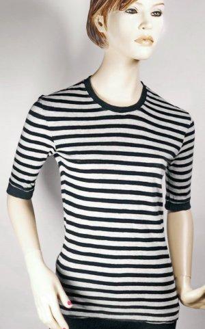 DIESEL Pullover Gr. 36 S schwarz grau Pulli Sweatshirt Baumwolle gestreift kurzarm