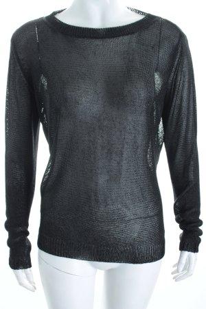 Diesel Pullover schwarz Transparenz-Optik