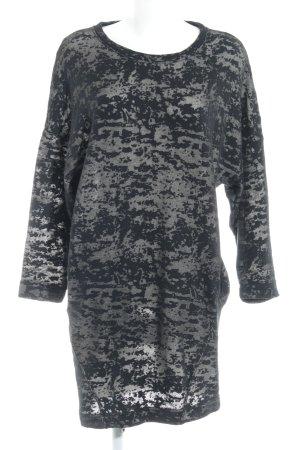 Diesel Pulloverkleid schwarz-graubraun Camouflagemuster Casual-Look