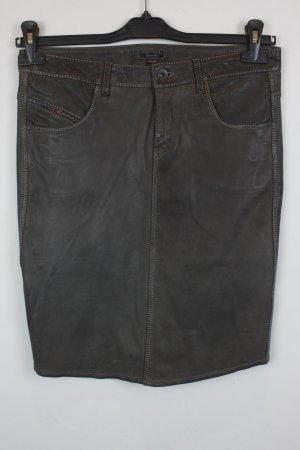 Diesel Leather Skirt grey brown leather