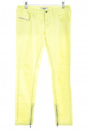 Diesel Drainpipe Trousers neon yellow extravagant style