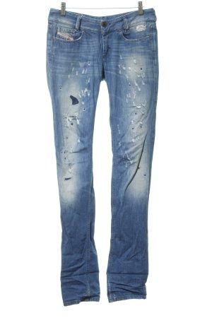 Diesel Jeans cigarette bleuet style décontracté