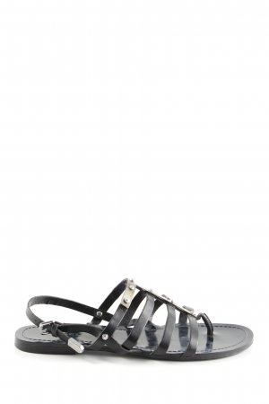 Diesel Sandalias romanas negro look casual