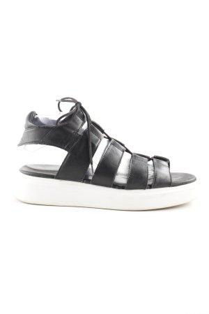 Diesel Sandalias romanas negro-blanco look casual