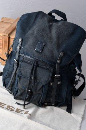 DIESEL Rucksack Backpack Denimstyle Vintagelook unisex Lederdetails