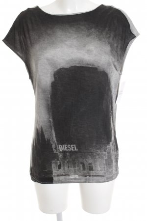 Diesel Backless Top themed print street-fashion look