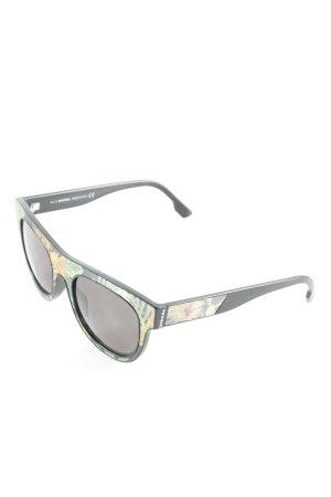 Diesel runde Sonnenbrille florales Muster Casual-Look