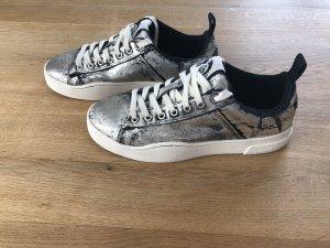 Diesel Lace-Up Sneaker silver-colored-dark blue
