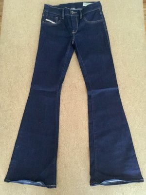 Diesel Jeans a zampa d'elefante blu scuro Cotone