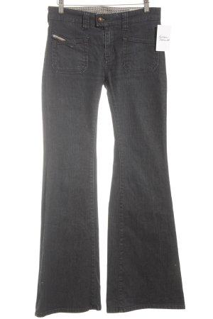 Diesel Pantalone a zampa d'elefante blu scuro stile da moda di strada