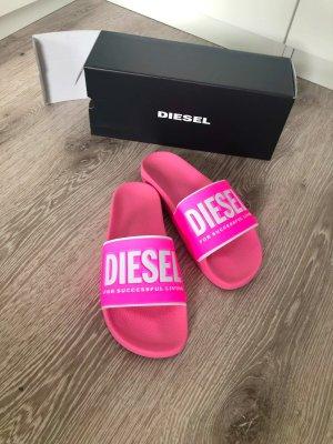 Diesel Beach Sandals neon pink-pink