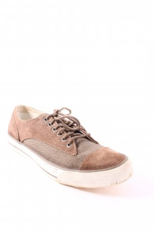 Diesel Zapatilla brogue marrón claro look casual