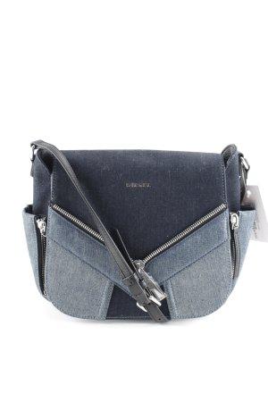 Diesel Shoulder Bag dark blue-azure flecked street-fashion look