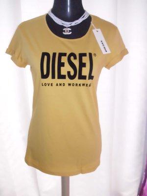 Diesel Shirt in dunkel gelb Größe M ungetragen