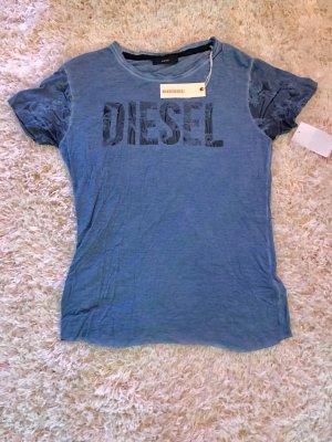 Diesel Shirt Tshirt Neu Frühling xs s blume blau print