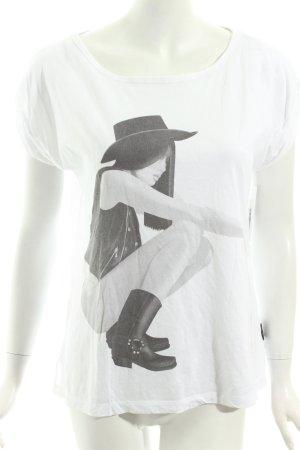 Diesel Shirt weiß-schwarz Casual-Look