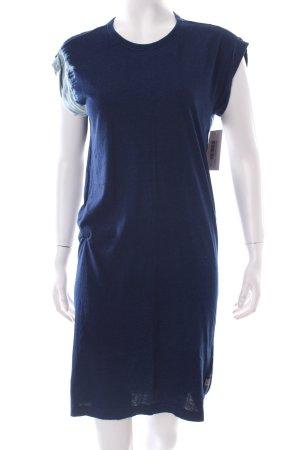 Diesel Robe t-shirt bleu foncé-bleu pâle motif batik style seconde main