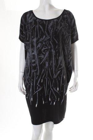 Diesel Shirtkleid schwarz-weiß Allover-Druck Casual-Look