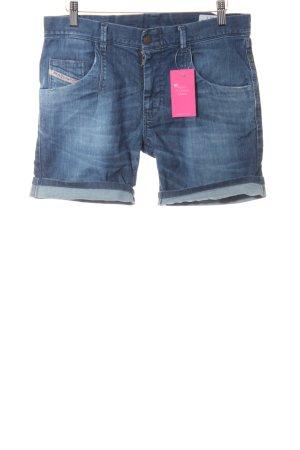 Diesel Shorts blau Bleached-Optik