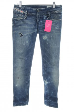 Diesel Skinny Jeans neonblau Washed-Optik