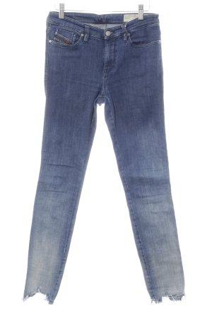 Diesel Skinny Jeans blau Used-Optik