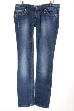 Diesel Skinny Jeans blau-wollweiß Washed-Optik