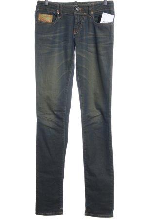 Diesel Skinny Jeans dunkelblau-dunkelgelb Casual-Look