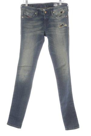 Diesel Skinny Jeans dunkelblau-hellbeige Casual-Look
