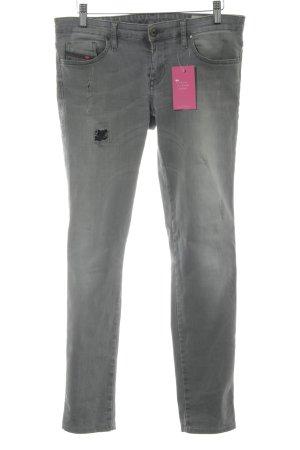 Diesel Skinny Jeans dunkelgrau Casual-Look