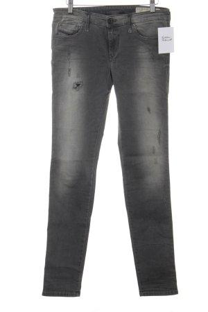 Diesel Skinny Jeans grau Casual-Look