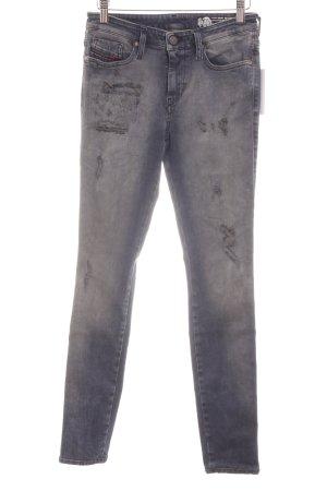 Diesel Skinny Jeans graublau-blassblau Urban-Look