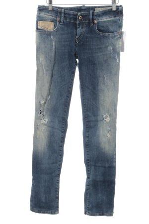 """Diesel Skinny Jeans """"Grupee"""" stahlblau"""