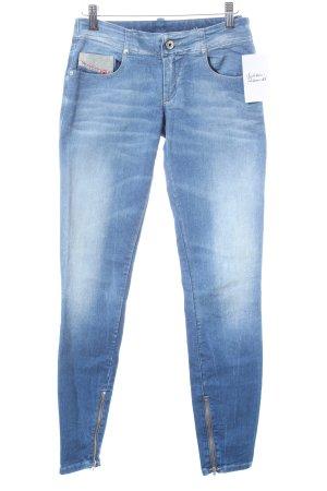Diesel Skinny Jeans hellblau-wollweiß Casual-Look