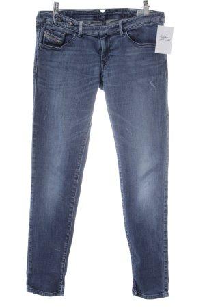 Diesel Skinny Jeans kornblumenblau Destroy-Optik