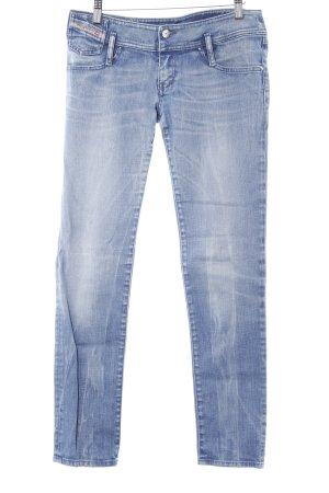 Diesel Skinny Jeans kornblumenblau Washed-Optik