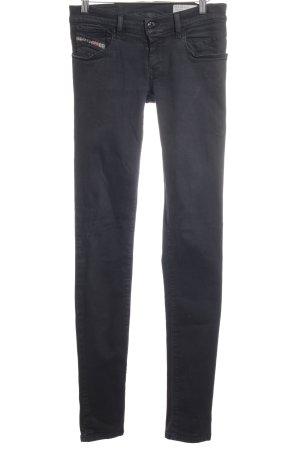 Diesel Skinny Jeans schwarz Washed-Optik