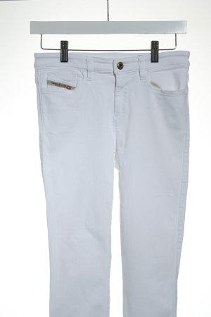 Diesel Skinny Jeans weiß-goldfarben Casual-Look