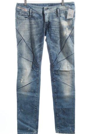 Diesel Slim Jeans blau Destroy-Optik