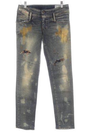 Diesel Slim Jeans dunkelblau-dunkelorange Casual-Look