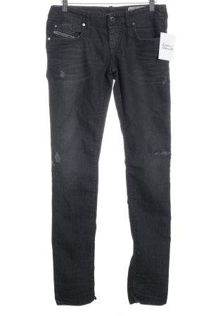 Diesel Slim Jeans dunkelgrau Destroy-Optik
