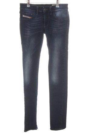 Diesel Jeans slim bleu fluo style décontracté