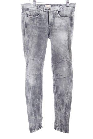 Diesel Slim Jeans grau-dunkelgrau Biker-Look