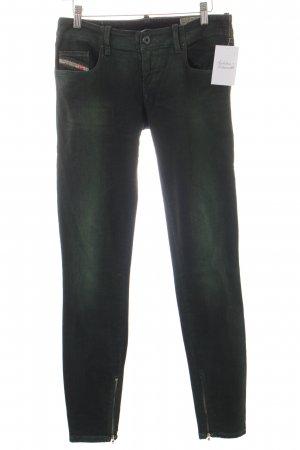 Diesel Slim Jeans grüngrau-waldgrün Farbverlauf Casual-Look