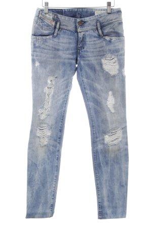 Diesel Slim Jeans kornblumenblau Used-Optik
