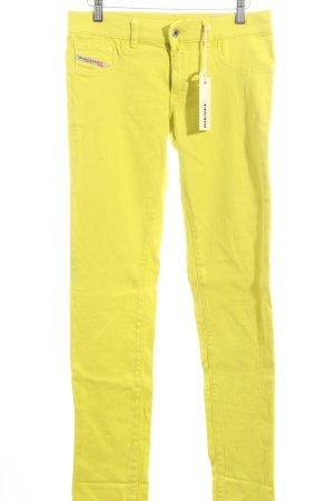 Diesel Slim Jeans neongelb Casual-Look