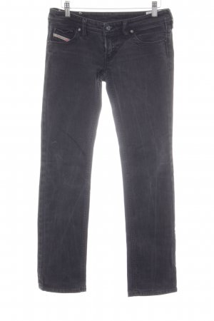 Diesel Slim Jeans schwarz-dunkelgrau Washed-Optik