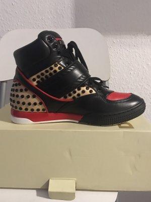 Diesel sneaker in schwarz/rot/beige