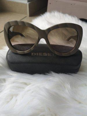 Diesel Ovale zonnebril groen-grijs